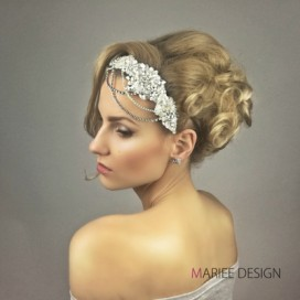 Luxusná svadobná krištáľová ozdoba do vlasov LSO1