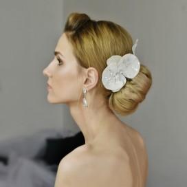 Kvetinová ozdoba do vlasov ORCHIDEA