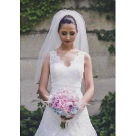 Bohatý svadobný závoj I5 90cm