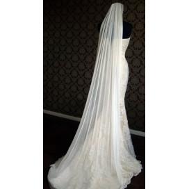 Luxusný hodvábny svadobný závoj zo 100% hodvábu SILKVEIL1