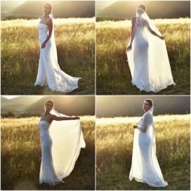 Luxusný hodvábny svadobný závoj zo 100% hodvábu SILKVEIL