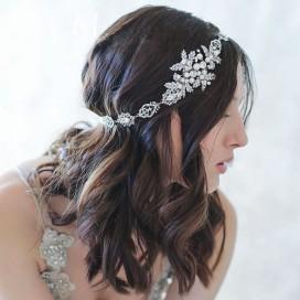 Krištáľová čelenka s perličkami PERLA