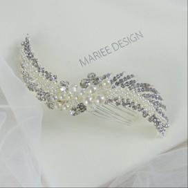 Luxusný svadobný hrebienok do vlasov LH11