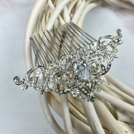 Luxusný svadobný hrebienok do vlasov H001