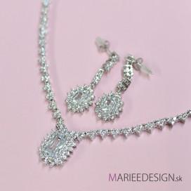 Svadobný/spoločenský náhrdelník + náušnice NN4