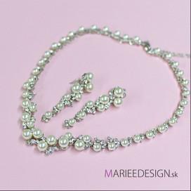 Svadobný/spoločenský náhrdelník + náušnice NN282