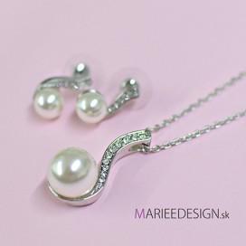 Svadobný/spoločenský náhrdelník + náušnice NN256