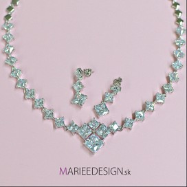 Svadobný/spoločenský náhrdelník + náušnice NN46