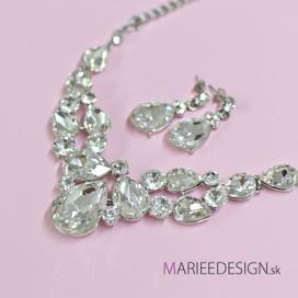 Svadobný/spoločenský náhrdelník + náušnice NN13