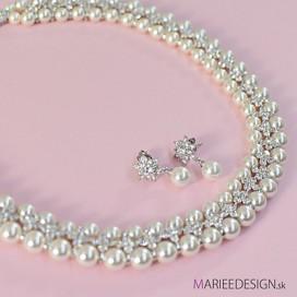 Luxusný perlový set náhrdelník + náušnice COCO NN07