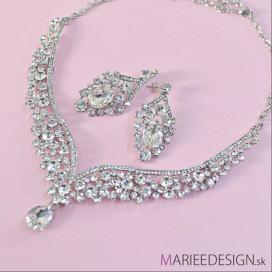 Svadobný/spoločenský náhrdelník + náušnice NN133