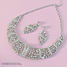 Svadobný/spoločenský náhrdelník + náušnice NN29 VÝPREDAJ- cena pred zľavou 55EUR