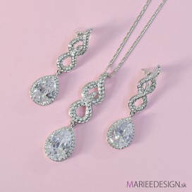 Svadobný spoločenský náhrdelník + náušnice NN515 a769f414ce6