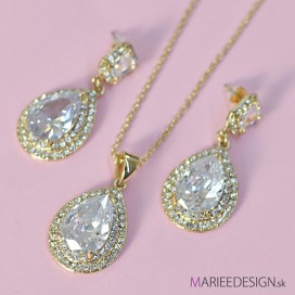 Svadobný/spoločenský náhrdelník + náušnice NN0451