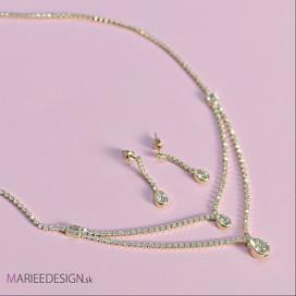 Krištáľový set: náhrdelník + náušnice NH5
