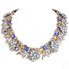 Farebný krištáľový náhrdelník COSMO
