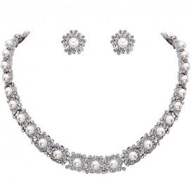 Luxusný perlový set náhrdelník + náušnice MARGRET