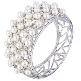 Svadobný perličkový náramok TABITHA