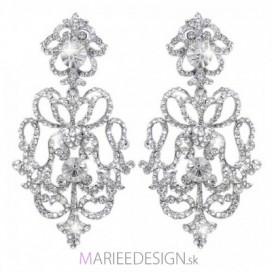 Svadobné/spoločenské chandelier krištáľové náušnice HARPER