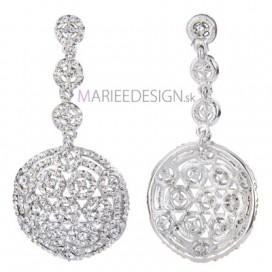 Svadobné/spoločenské chandelier krištáľové náušnice ROUNDY