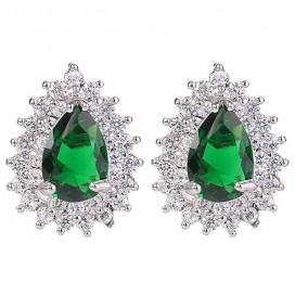 Smaragdovo zelené náušnice EMERALD