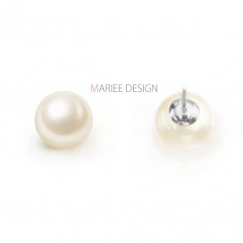 Pravé perlové náušnice PERLA, 925 striebro
