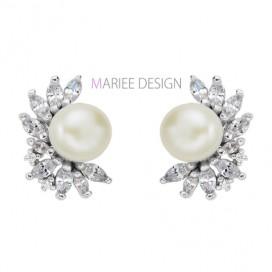 Pravé perlové náušnice PRINCESS, 925 striebro