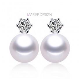 Pravé perlové náušnice ZIRC, 925 striebro