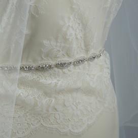 Opasok na svadobné a spoločenské šaty OP8