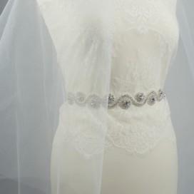 Opasok na svadobné a spoločenské šaty OP44