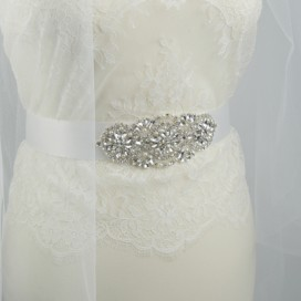 Opasok na svadobné a spoločenské šaty OP444