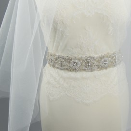 Opasok na svadobné a spoločenské šaty OP1