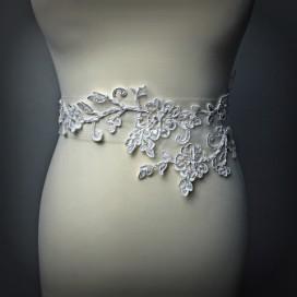 Opasok na svadobné a spoločenské šaty OP013